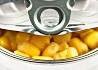 Sweet corn in a tin